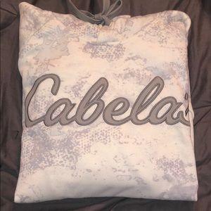 Cabela's White Camo Hoodie.